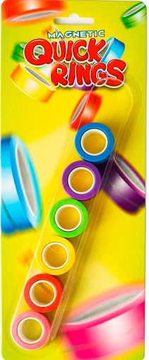 Magnetic Quick Rings Neon 6 pack