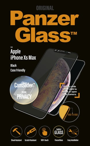 PanzerGlass til iPhone XS Max Privacy med Camslider