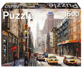 Puzzle puslespil med storby
