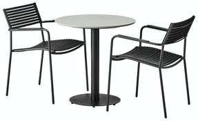 Luso cafebord med 2 Mood Air - antracit