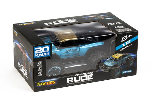 Techtoys Rude off-road 1:12 2,4ghz R/C - metal blue/gold