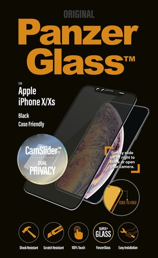 PanzerGlass til iPhone X/XS Privacy med Camslider