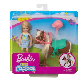 Barbie® Club Chelsea™-dukke og pony