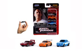 Fast and Furious 3-pack nano die-cast biler