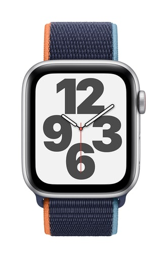 Apple Watch SE GPS 44mm Silver Alu Case Regular – navy sportsrem - cellular