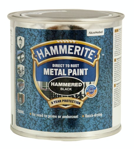 Hammerite hammer 250 ml - metalmaling - sort