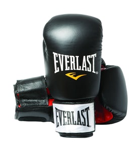 Everlast Fighter læder boksehandske - sort