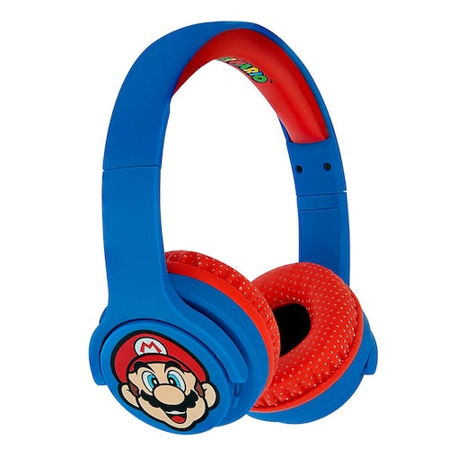 Super Mario hovedtelefon Junior Bluetooth - Blue Mario Icon