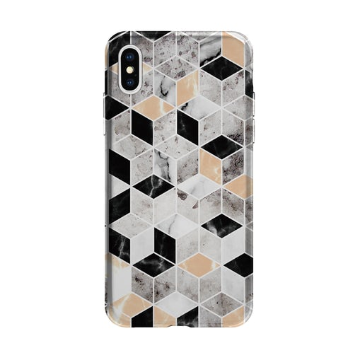 AVANA iPhone XR Cover - grå harlekin