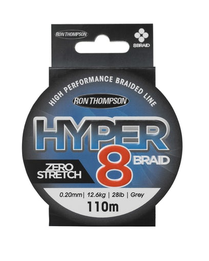 Ron Thompson Hyper 8-Braid Line 110m - Dark Grey