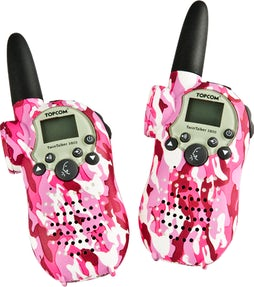 Walkie Talkies med LED lygte – camouflage pink
