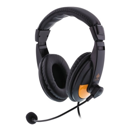 Deltaco Gaming Stereo Gaming headset - sort/orange