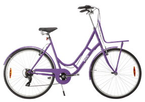 """PUCH New Style 28"""" dame 7 udvendige gear 2021 - lilla"""